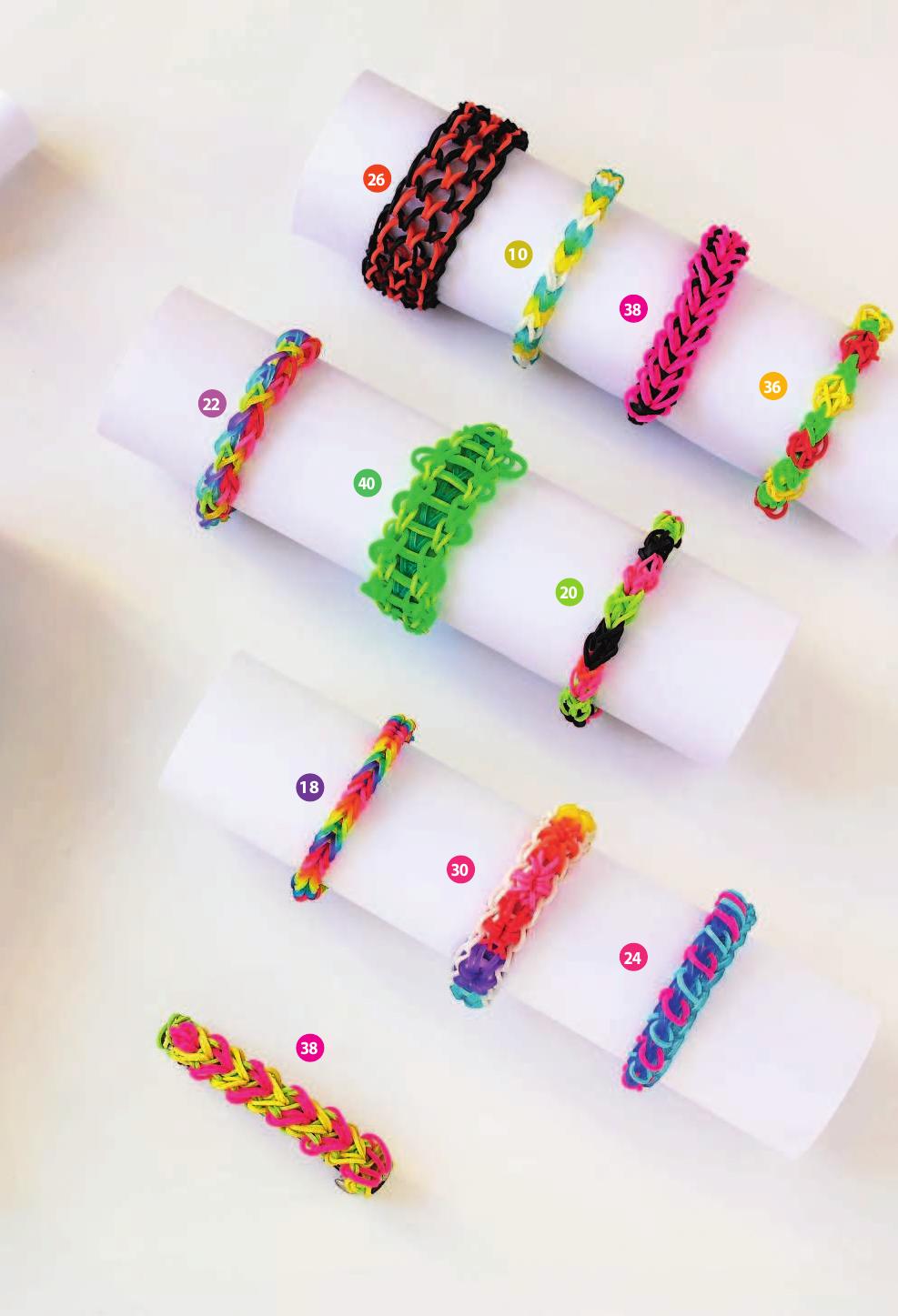 Плетеные браслеты из резиночек