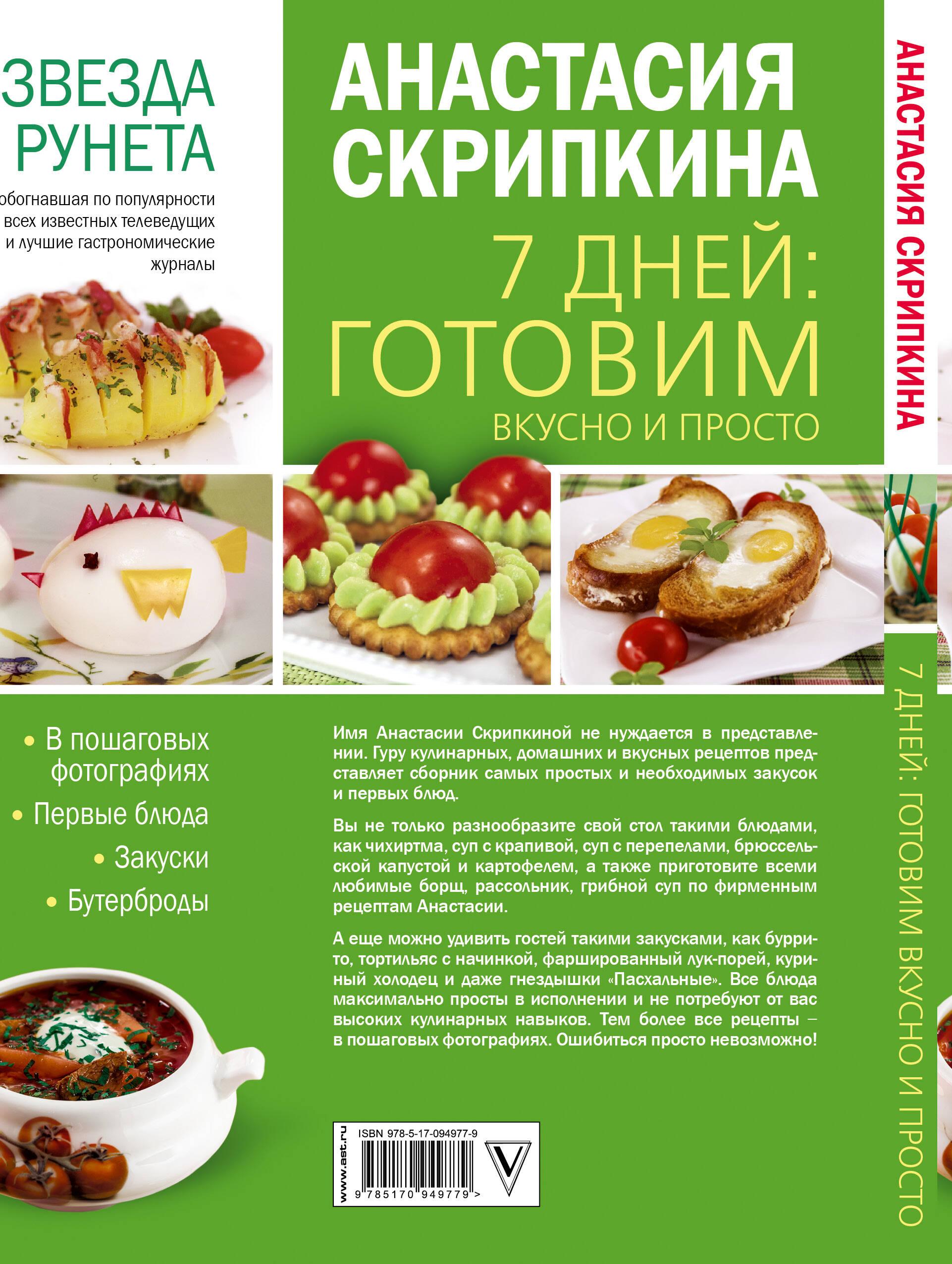 Кулинарные рецепты от Скрипкиной Анастасии