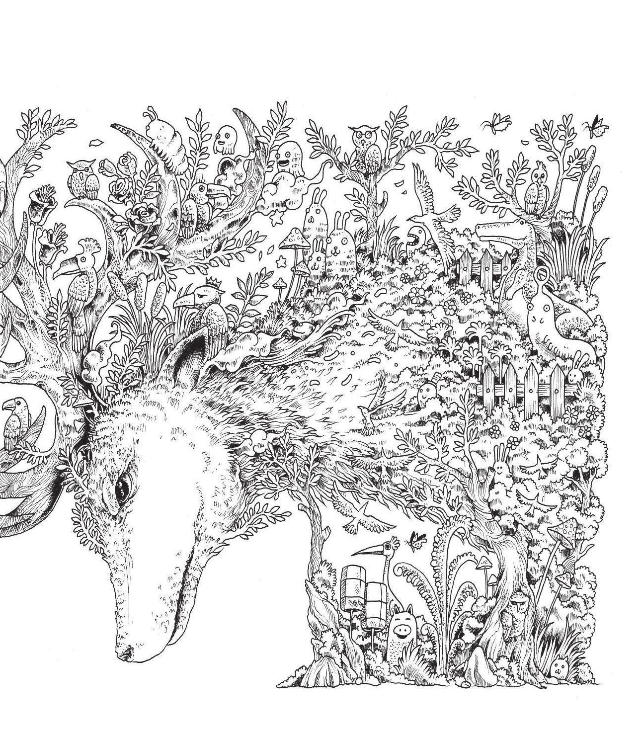 Рисунок из маленьких деталей
