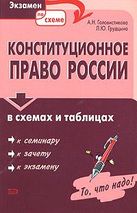 Конституционное право России в схемах и таблицах Головистикова А.Н., Грудцына Л.Ю.