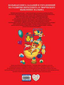 Обложка сзади Большая книга заданий и упражнений на развитие интеллекта и творческого мышления малыша И.Е. Светлова