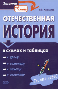 Кириллов В.В. - Отечественная история в схемах и таблицах. 4-е изд., испр. и доп. обложка книги