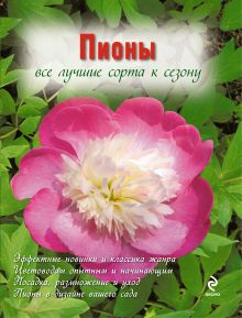 Рубинина А.Е. - Пионы (Вырубка. Цветы в саду и на окне (обложка)) обложка книги