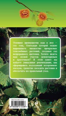 Обложка сзади Сад в лесу