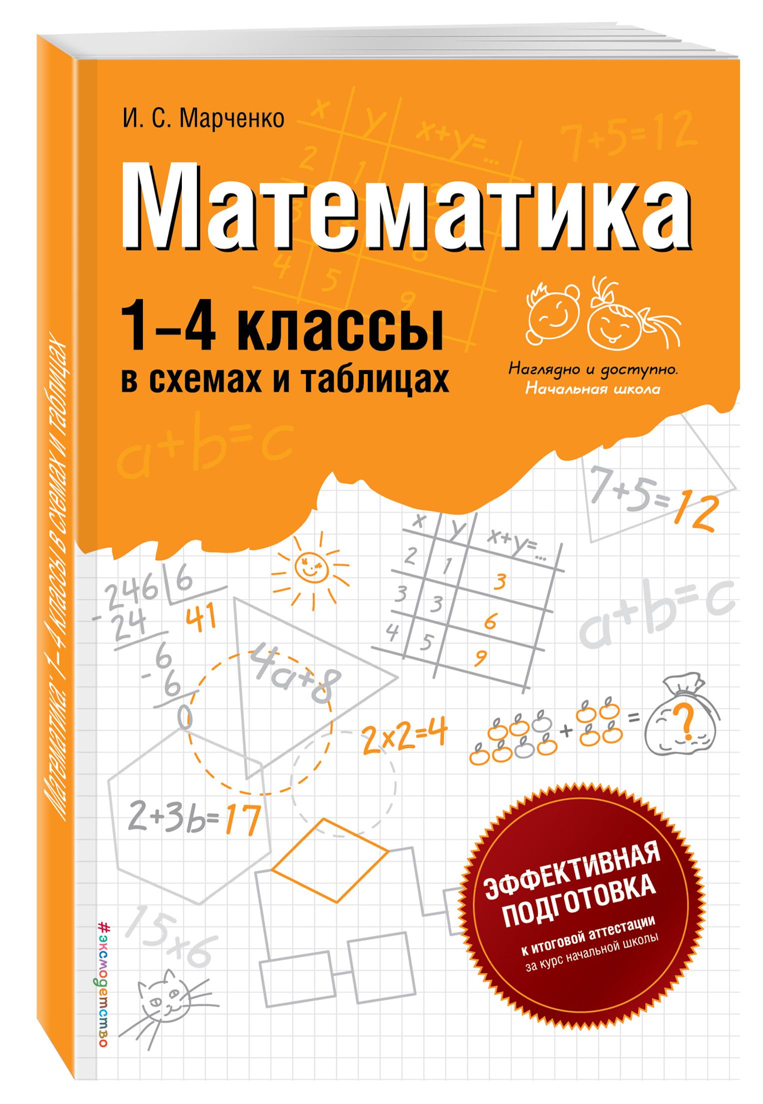 Математика: 1-4 классы в схемах и таблицах