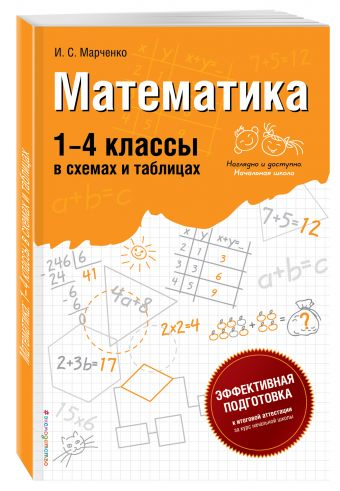 Математика: 1-4 классы в схемах и таблицах Марченко И.С.