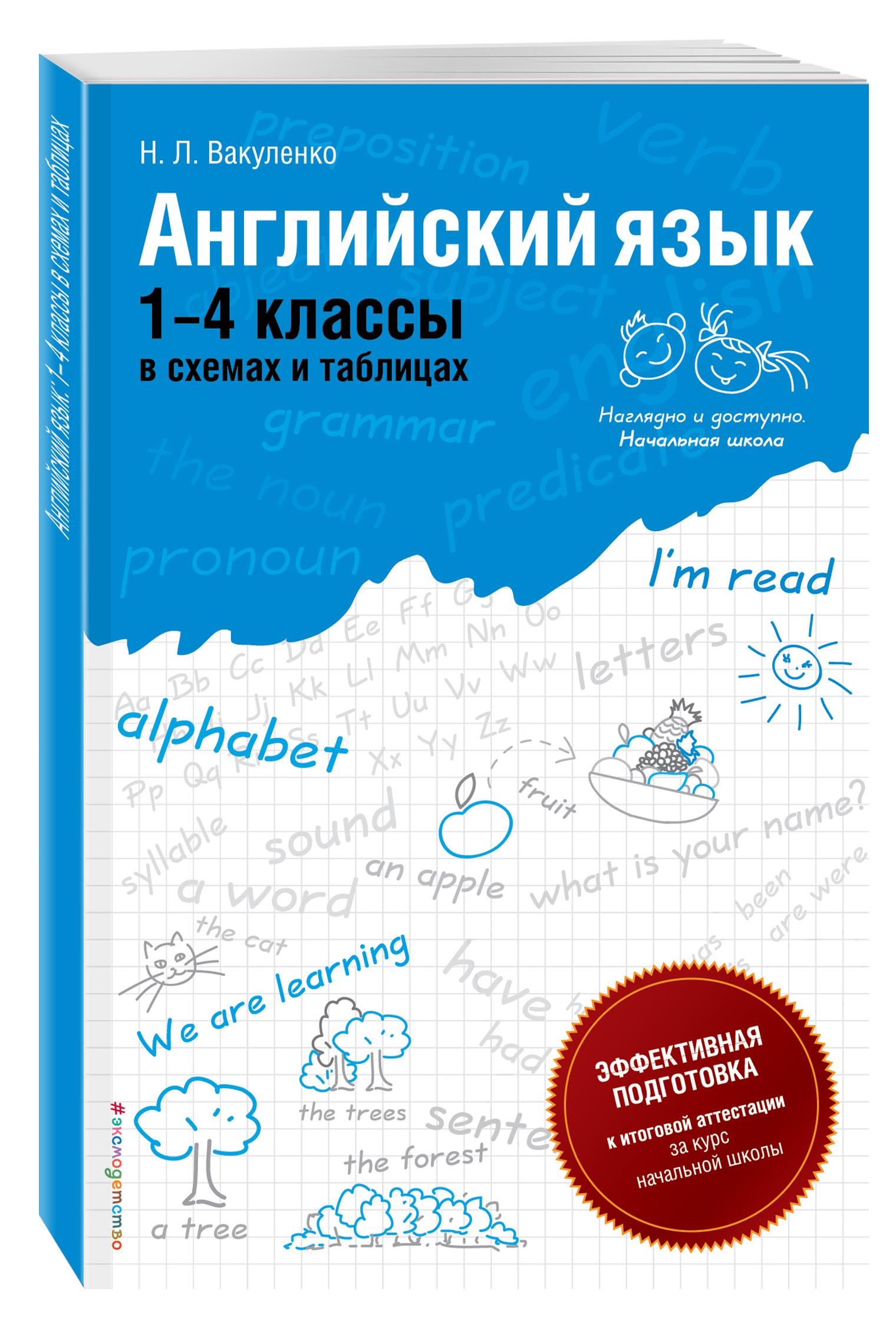 Английский язык: 1-4 классы в схемах и таблицах