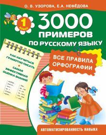 Узорова О.В. - 3000 примеров по русскому языку. 1 класс . Все правила орфографии обложка книги