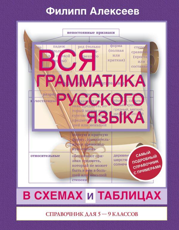 Вся грамматика русского языка в схемах и таблицах: справочник для 5-9 классов Алексеев Ф.С.