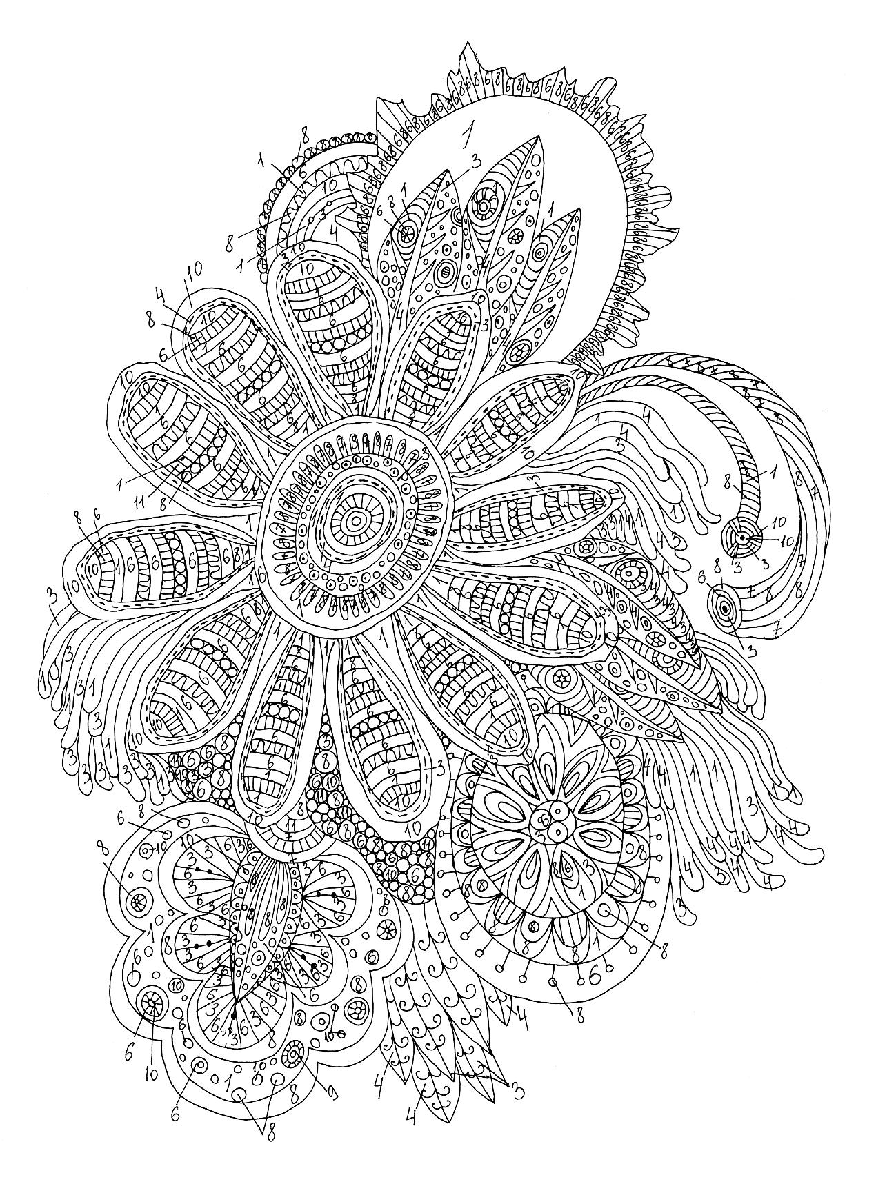 Красивые узоры и рисунки по клеточкам в тетради