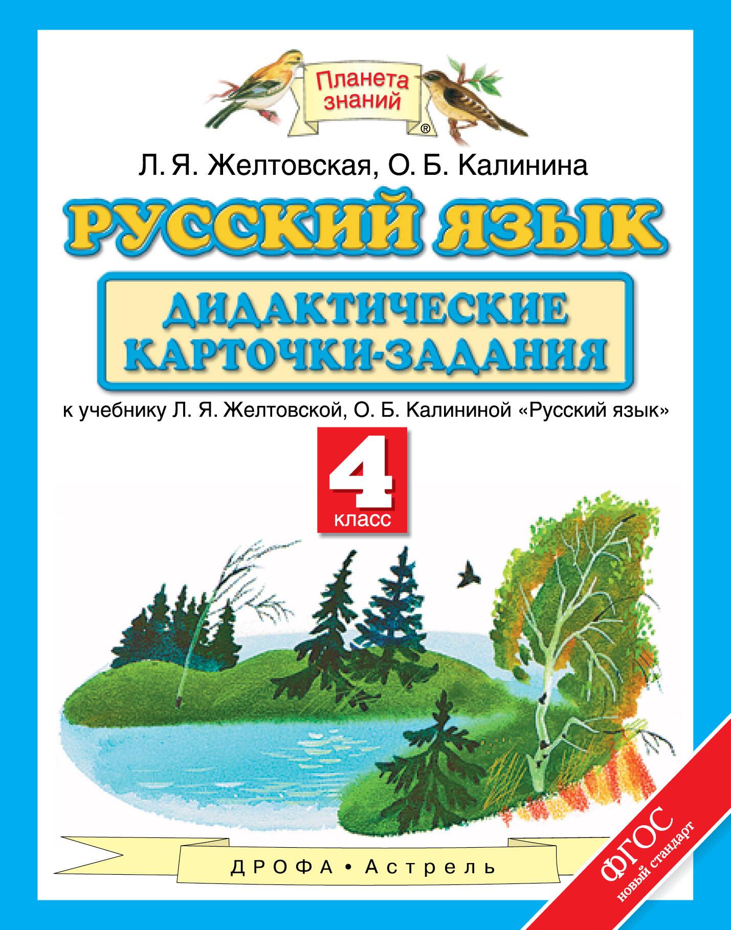 Русский язык. 4 класс. Дидактические карточки-задания