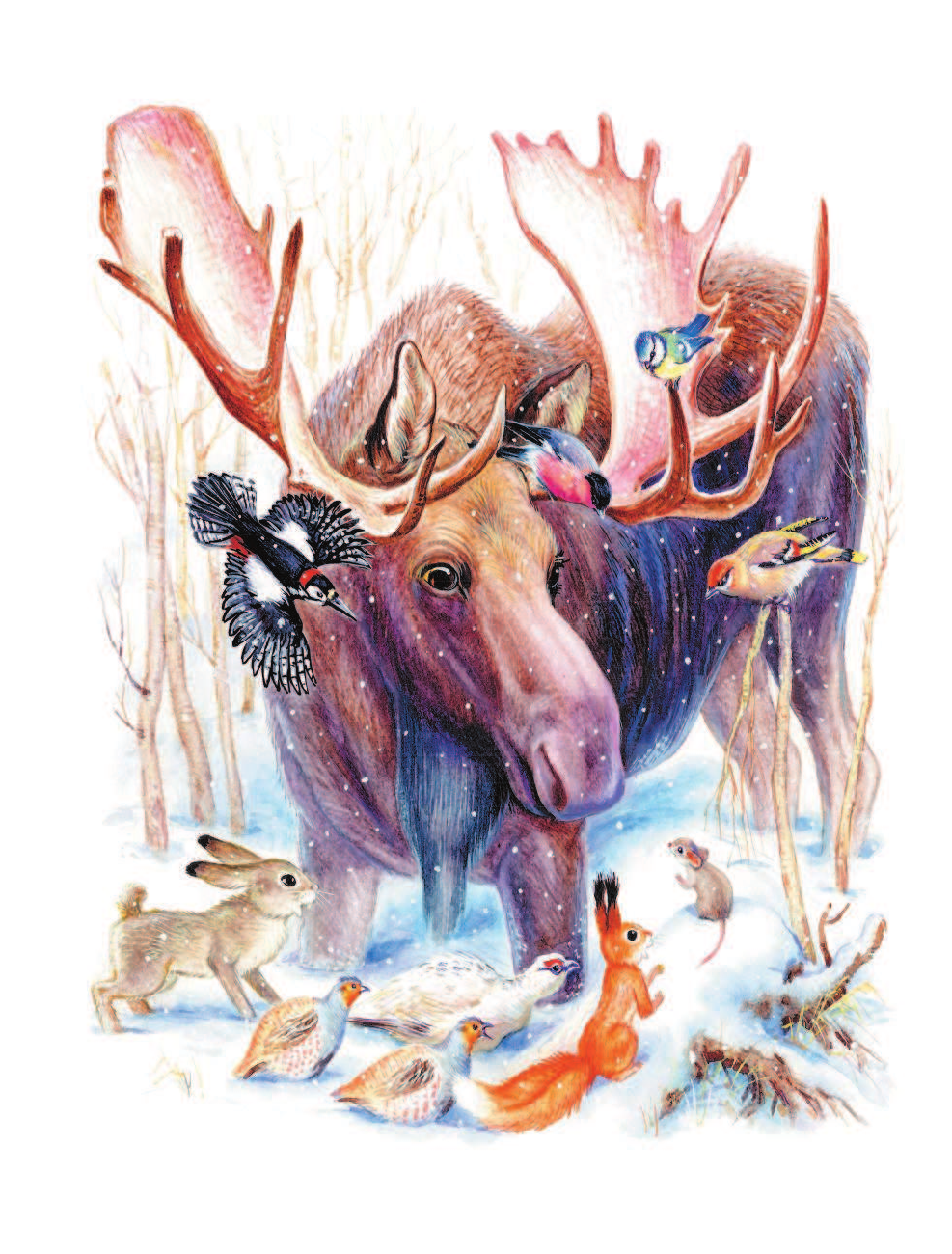 Картинки из детских книг про животных, гиф