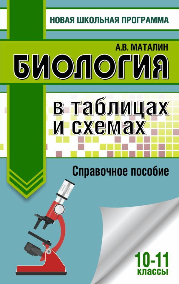Биология в таблицах и схемах. Справочное пособие. 10-11 кл. Маталин А.В.