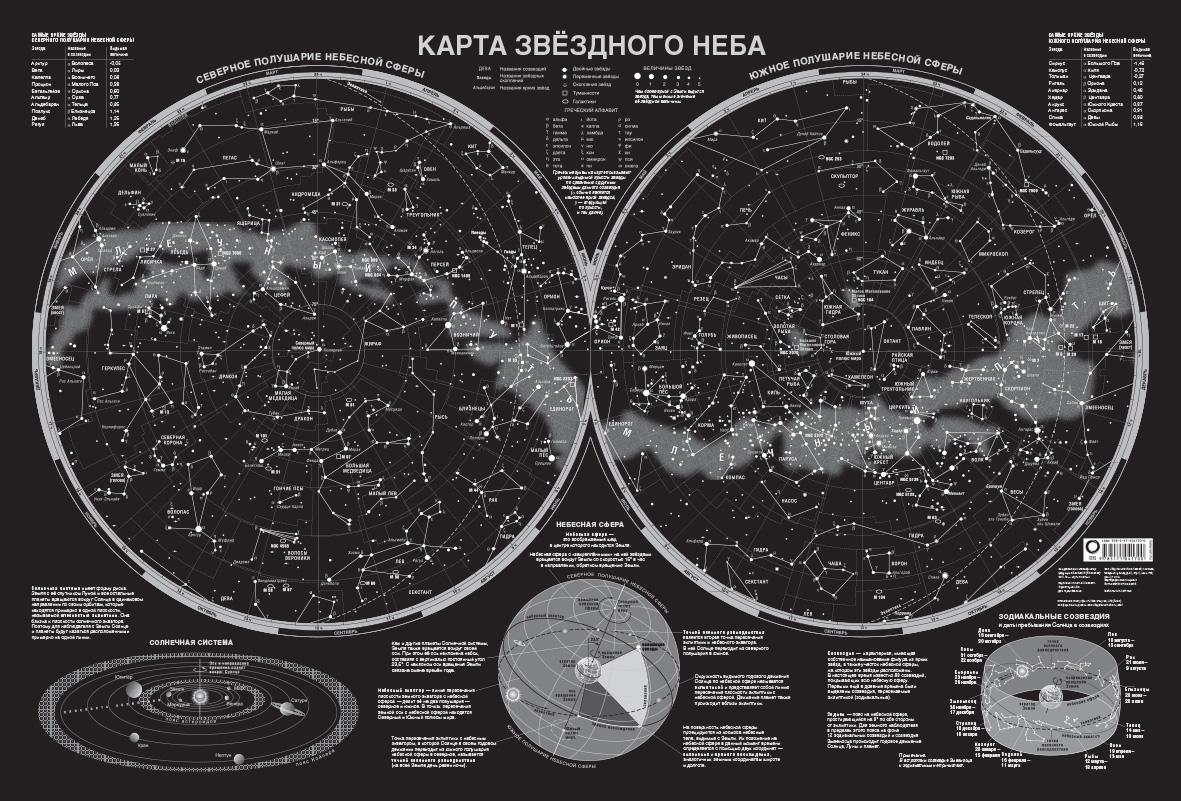 Карта звёздного неба (светящаяся) A0 ( .  )