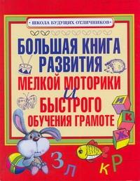 . - Большая книга развития мелкой моторики и быстрого обучения грамоте обложка книги