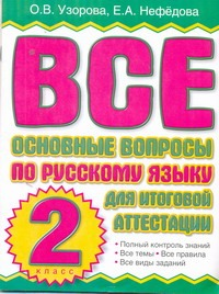 Все основные вопросы по русскому языку для итоговой аттестации. 2 класс Узорова О.В.