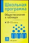 Баранов П.А. - Обществознание в таблицах. 10-11 классы обложка книги