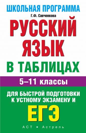 ЕГЭ. Русский язык в таблицах: 5-11-й кл.: справ. материалы Савченкова Г.Ф.