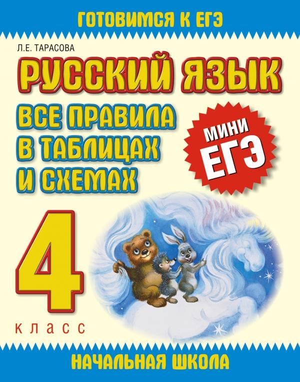 Русский язык. Все правила в таблицах и схемах. 4 класс Тарасова Л.Е.