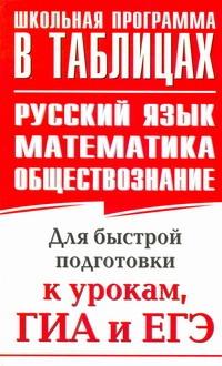 ЕГЭ Русский язык. Математика. Обществознание. Для быстрой подготовки к урокам, ГИА и ЕГЭ