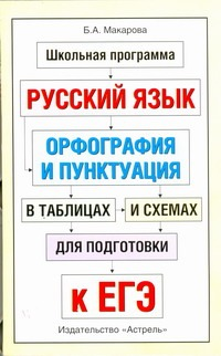 Макарова Б.А. - ЕГЭ Русский язык. Орфография и пунктуация в таблицах и схемах для подготовки к ЕГЭ обложка книги
