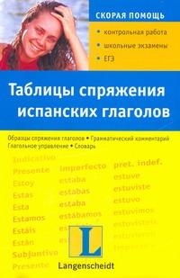 Загуровска Камила - Таблицы спряжения испанских глаголов обложка книги