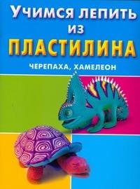 Петров С.К. - Учимся лепить из пластилина. Черепаха, хамелеон обложка книги