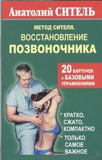 Ситель А. Б. - Метод Сителя. Восстановление позвоночника. 20 карточек с базовыми упражнениями обложка книги