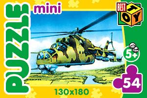 Пазл-мини 54А.2136 Военная техника 4 вида