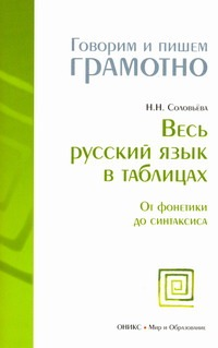 Весь русский язык в таблицах Соловьева Н.Н.