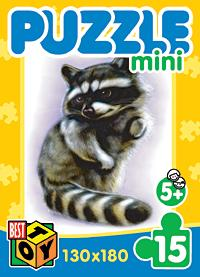 - Пазл-мини 15А.2002Пушистики/1 4вида Лисенок обложка книги