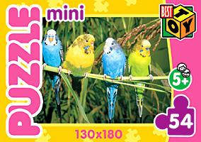 Пазл-мини 54А.5411 Мир животных 4вида