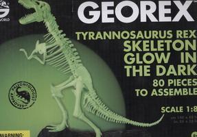 G. Сборная модель большая 3D Скелет Тираннозавра , 80 деталей (1:8) Cветящаяся CL101KR
