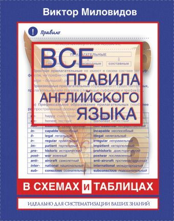 Все правила английского языка в схемах и таблицах Миловидов В. А.