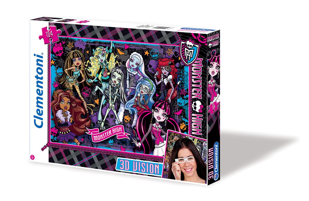 CLem.Monster High.Пазл. 104эл. 3Д 20075 Школа Монстров