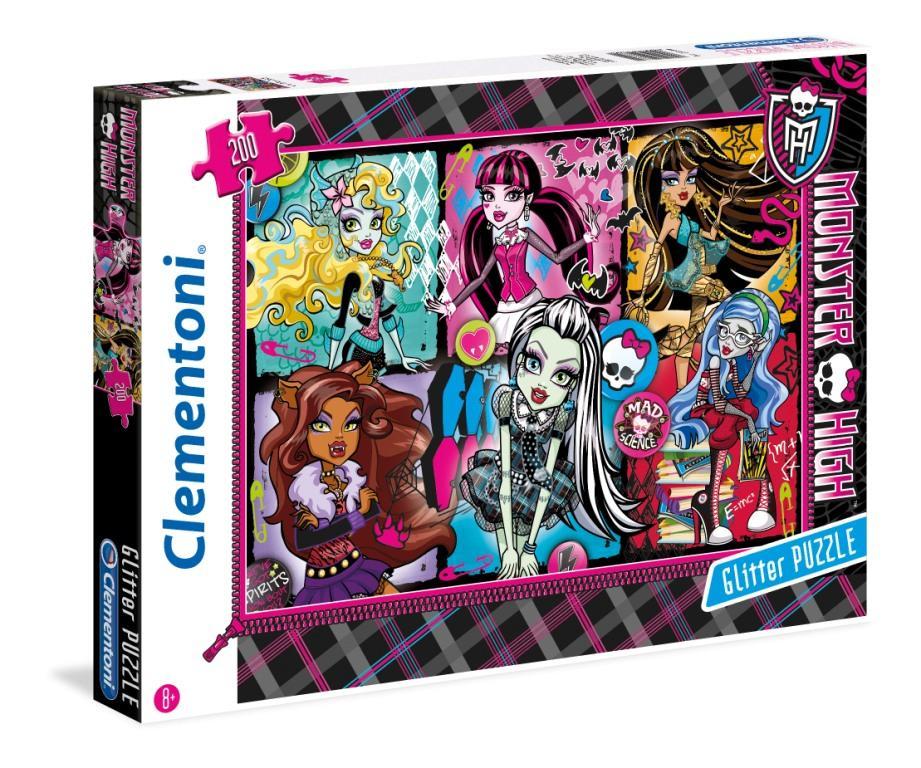 CLem.Monster High.Пазл. Блестящий.200эл.29684 Портреты фриков