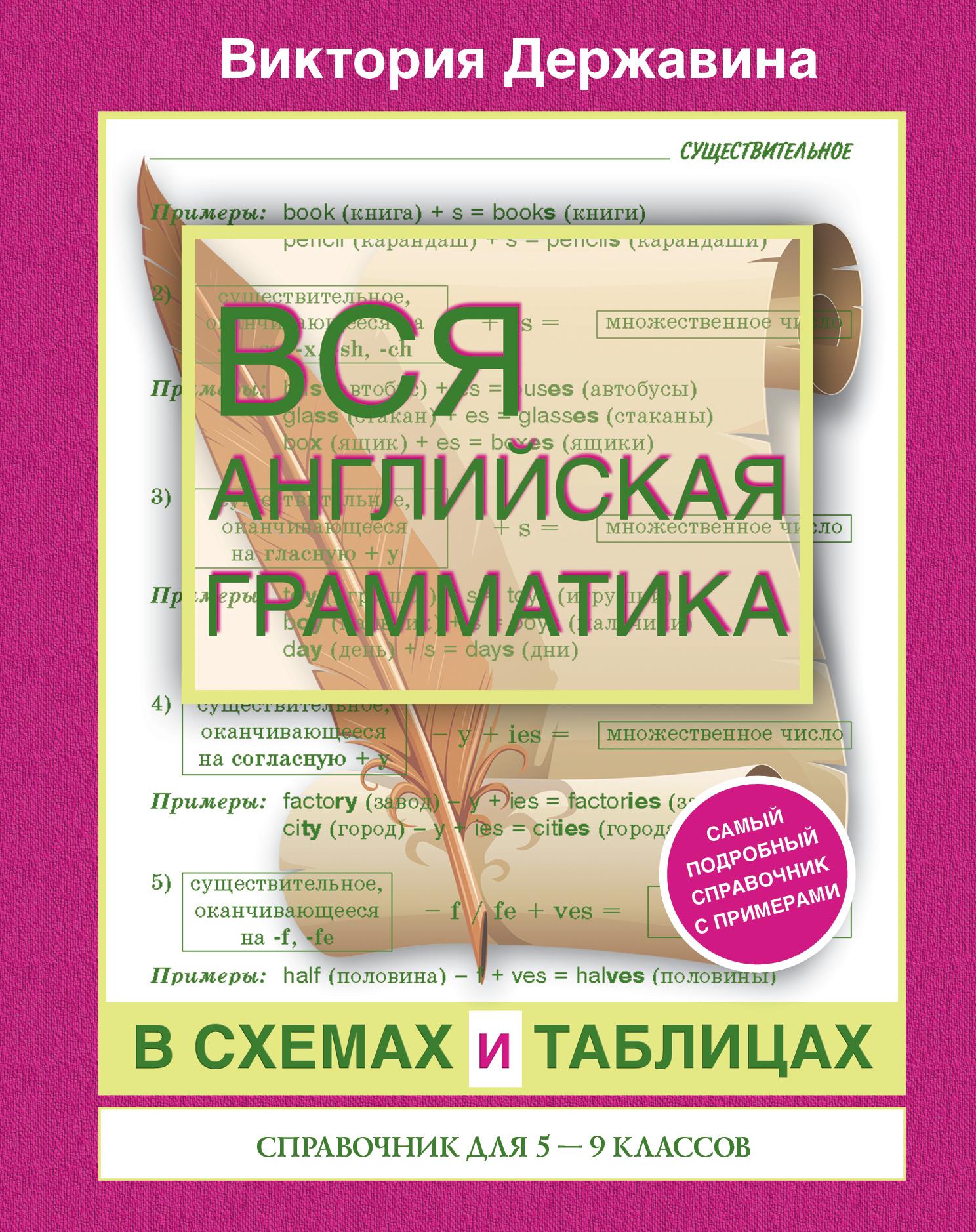 Вся английская грамматика в схемах и таблицах: справочник для 5-9 классов ( Державина Виктория Александровна  )