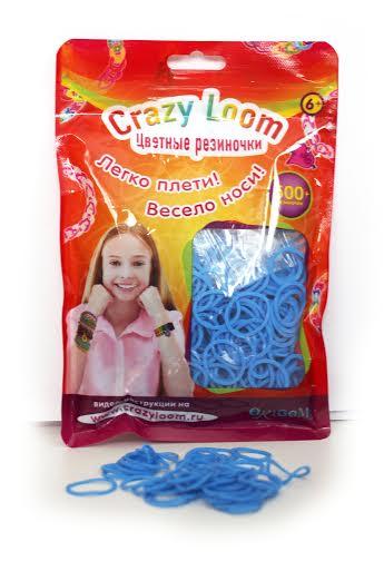 Crazy Loom. Цветные резиночки. Набор в пакете: 500 рез., крючок. (10 цв.), арт. 01165