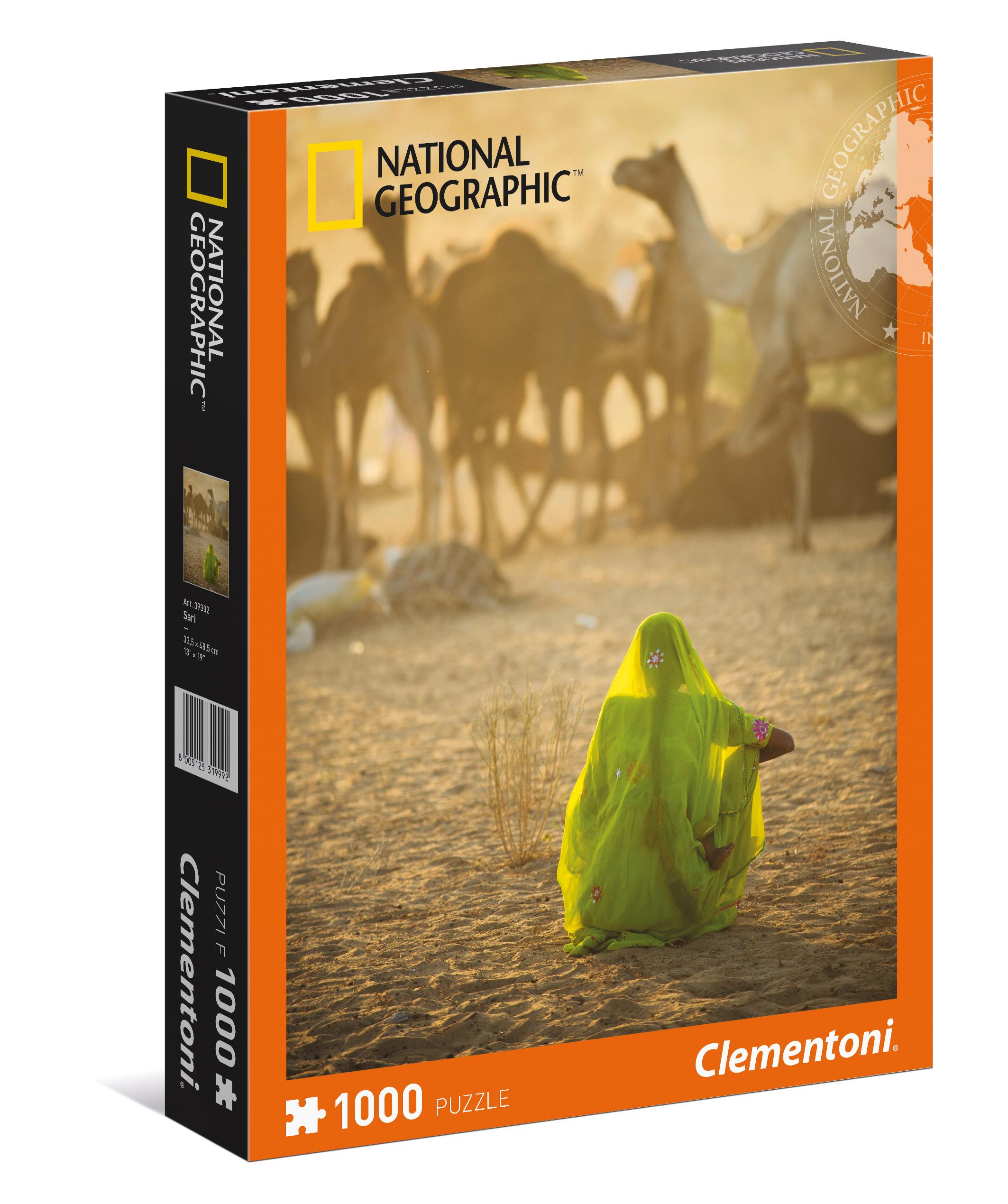 CLem.National Geographic.Пазл.1000 эл. 39302 Индианка, смотрящая на караван верблюдов (n)