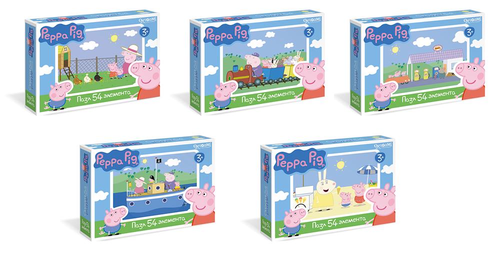 Peppa Pig.Мини-пазл.54А.01596