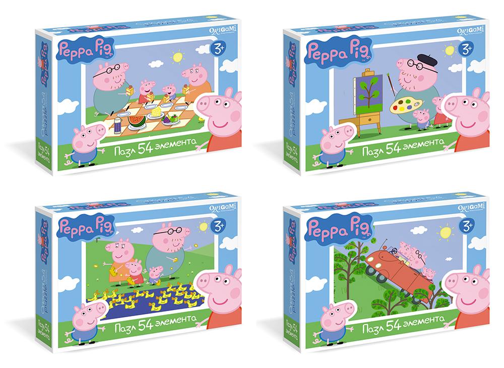 Peppa Pig.Мини-пазл.54А.01595