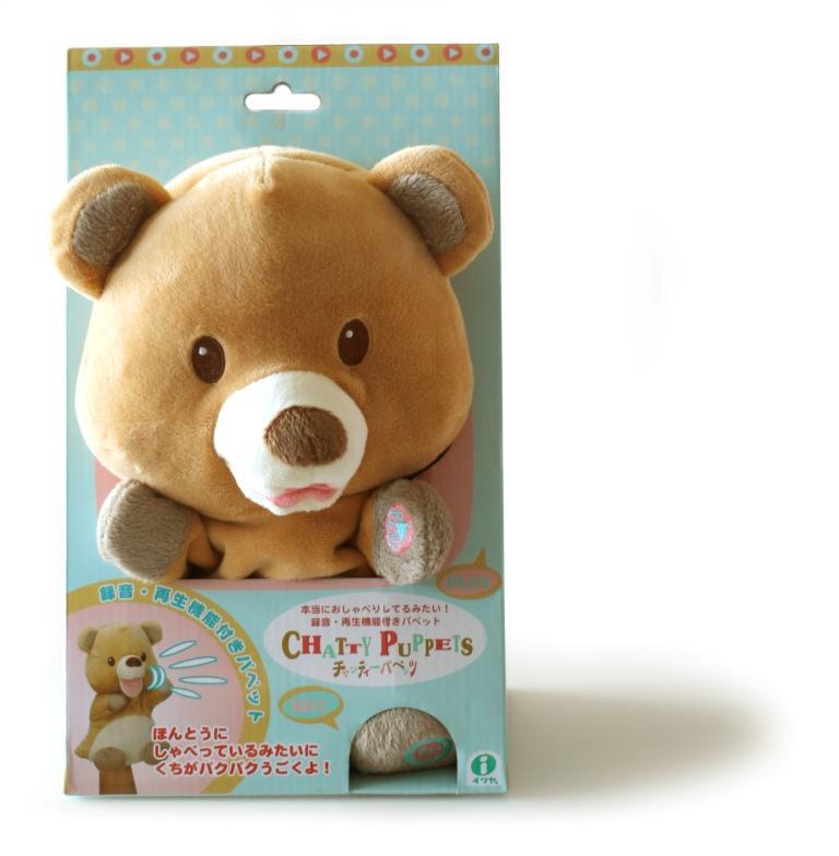 I.C.Chatty Puppets Игрушка-повторюшка Медвежонок, одевается на руку, арт.01736