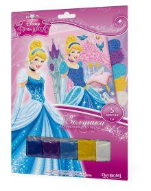 - Чудо-Тв. Disney Princess™. Аппликация из песка Золушка в замке. 21*30 см.  Арт. 02263 обложка книги