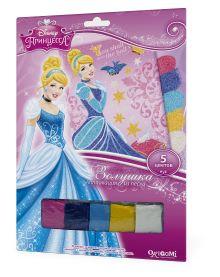 - Чудо-Тв. Disney Princess™. Аппликация из песка Золушка на балу. 21*30 см.  Арт. 02260 обложка книги