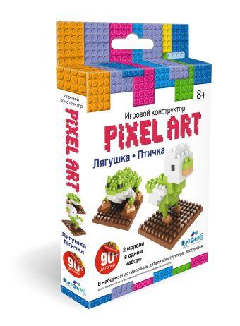 """К.PixelArt™ Конструктор 3D-пиксели 2 в 1 """"Лягушка/Птичка"""" арт. 02305 нн"""