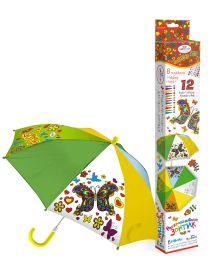 - Чудо-Тв. Зонтик д/раскрашивания Цветы с самокл.украш., арт.02325 обложка книги