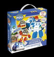 - Мозаика-набор д/малышей «Робокар». Фигурная 3D аппликация (4 фигурки, 6 предметов, скотч) 800 + элементов.арт.02422 обложка книги