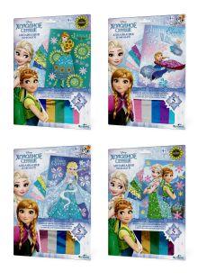 - Чудо-Тв. Disney Frozen™. Аппликация из фольги Эльза и Анна 4 вида в асс-те. 21*30 см. Арт. 02387 обложка книги