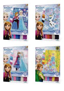 - Чудо-Тв. Disney Frozen™. Аппликация из песка Эльза и Анна 4 вида в асс-те.  21*30 см. Арт. 02391 обложка книги