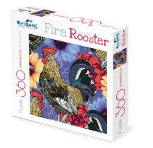 - Пазл 360А.FireRooster  Акварельные петухи.02634 обложка книги